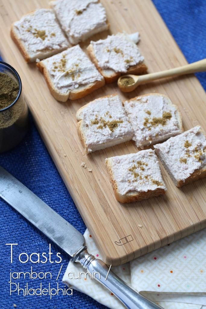 Toast jambon cumin