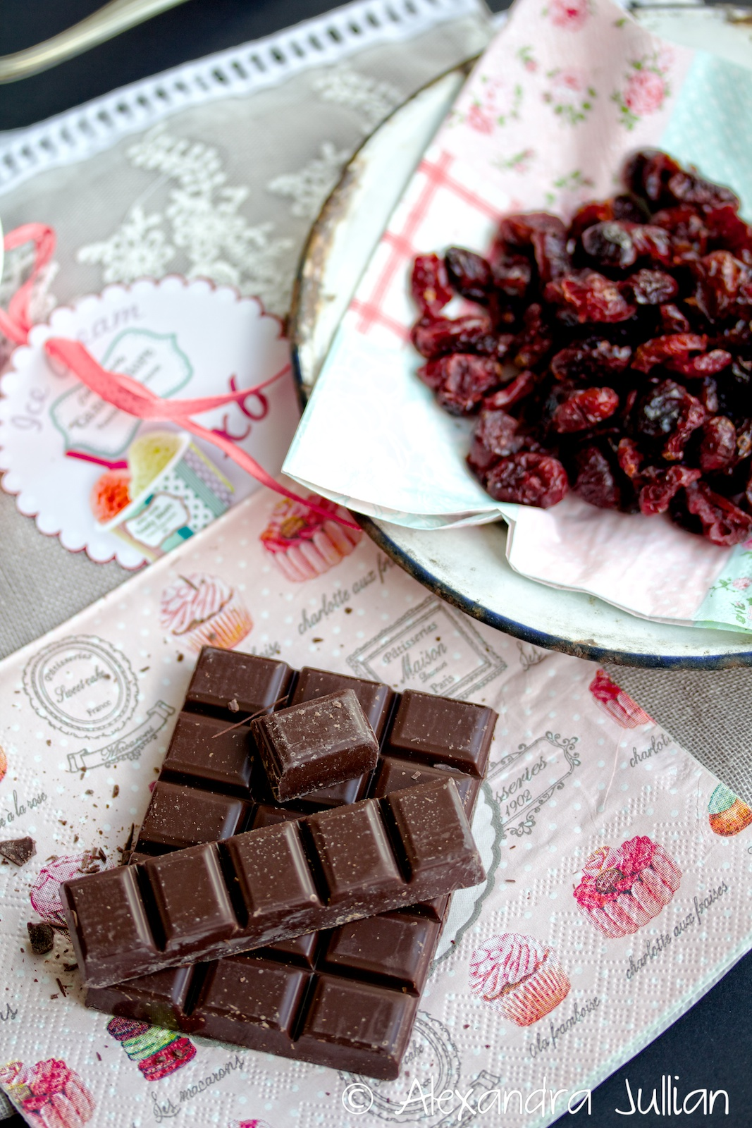 Cookies aux graines de lin, cranberries et chocolat