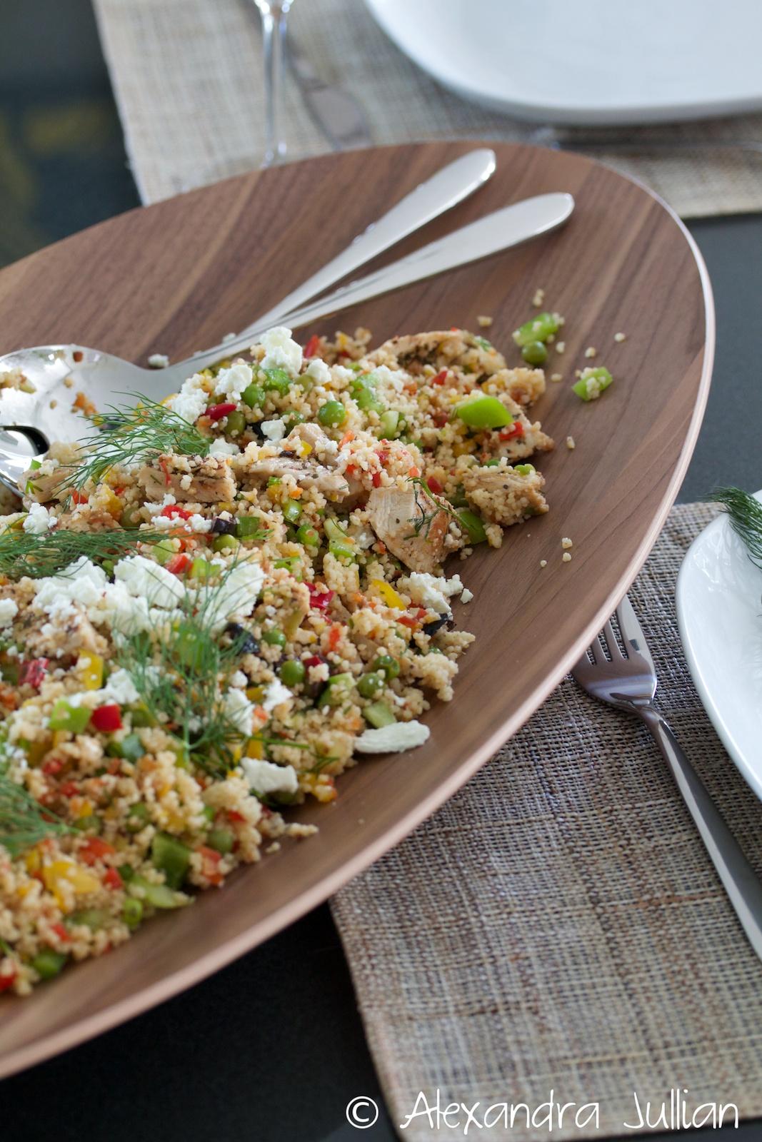 Couscous grec au poulet et au tzatziki de Jamie Oliver