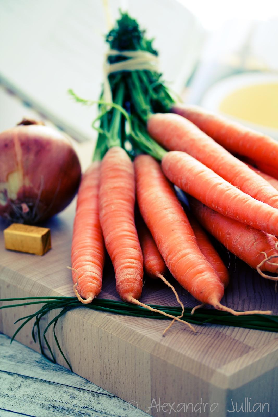 Velouté de carottes au gingembre