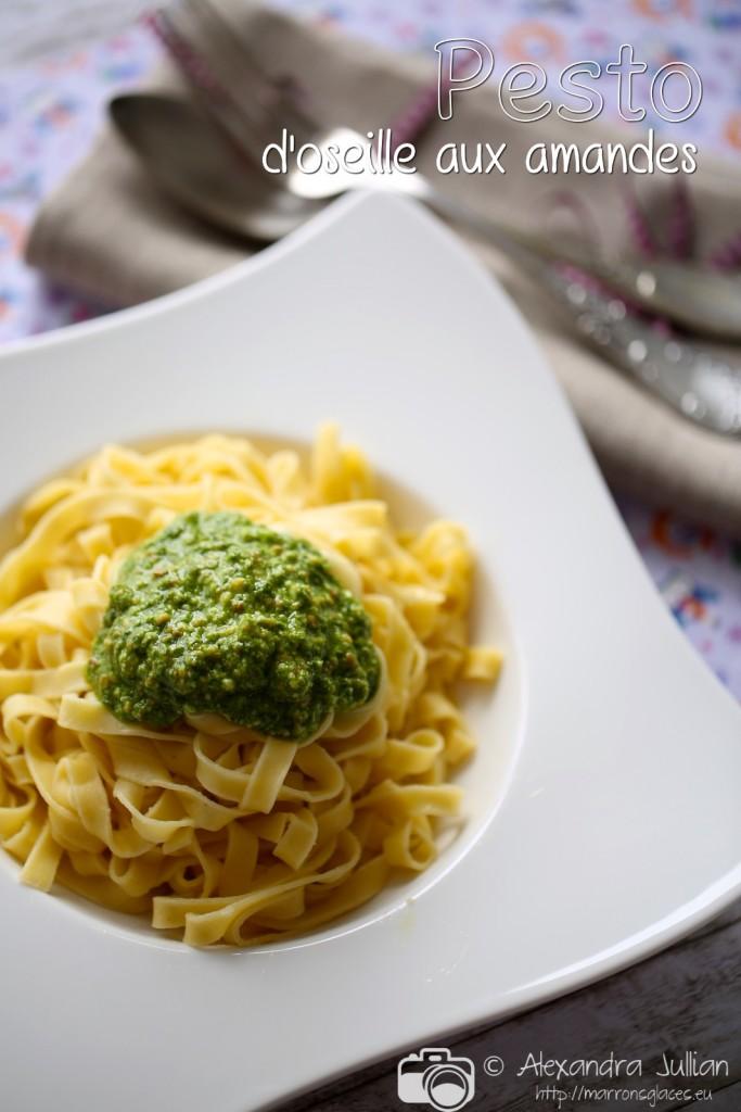 Pesto d'oseille et amandes