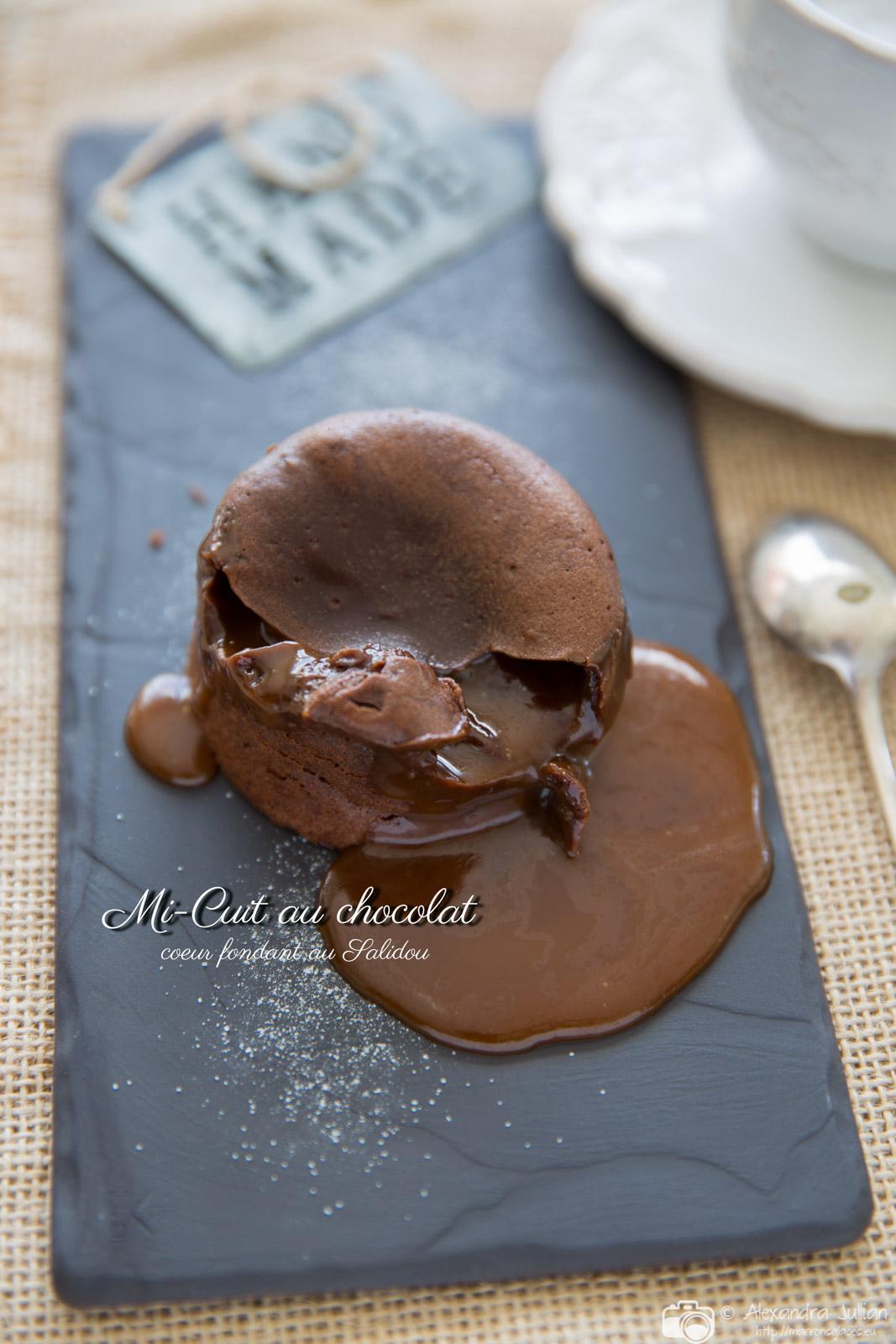 Mi-cuit au chocolat, coeur fondant Salidou